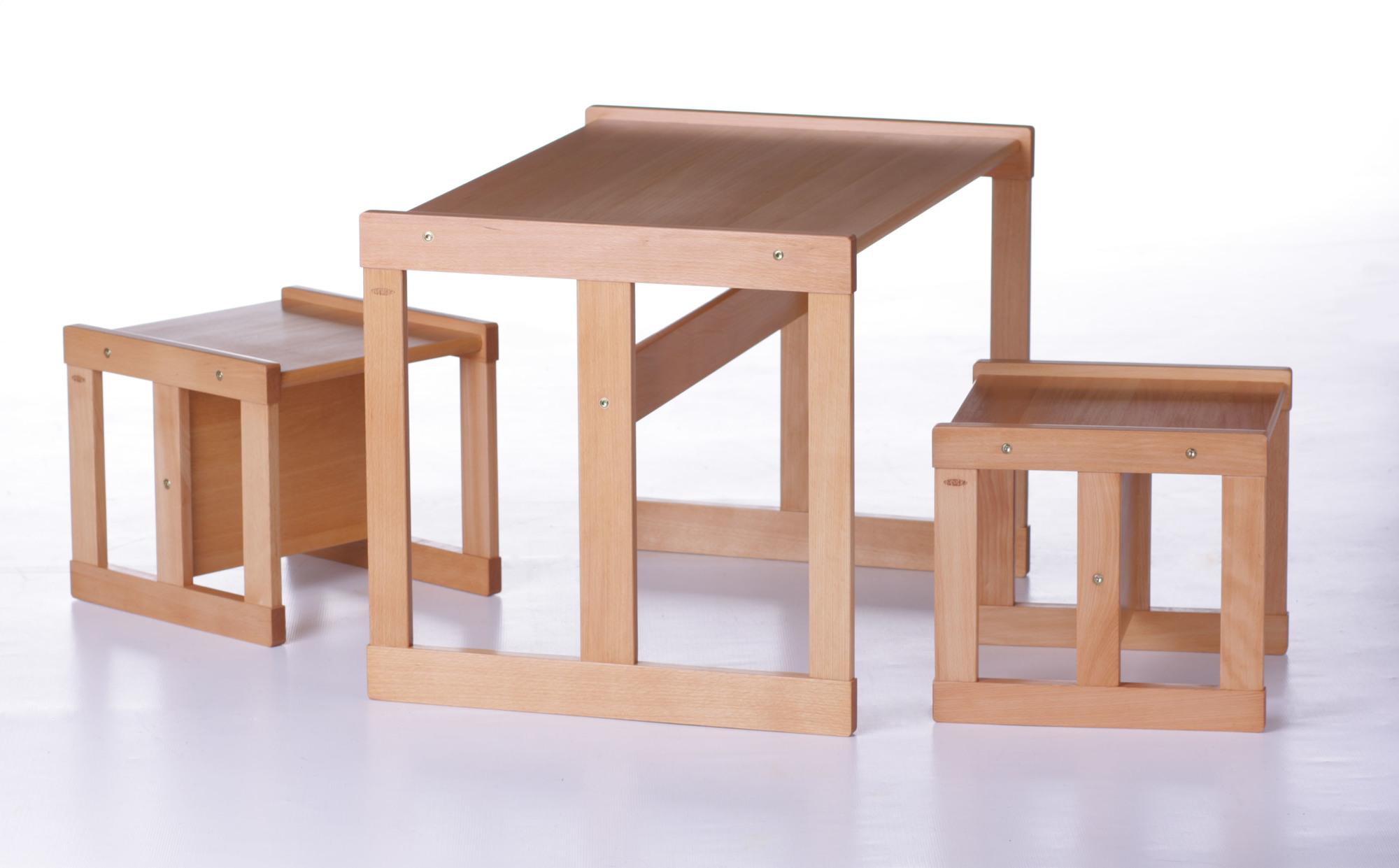 d9dd570a0e65f Detský drevený stôl a dve stoličky pre deti od 3 rokov | Montessori ...