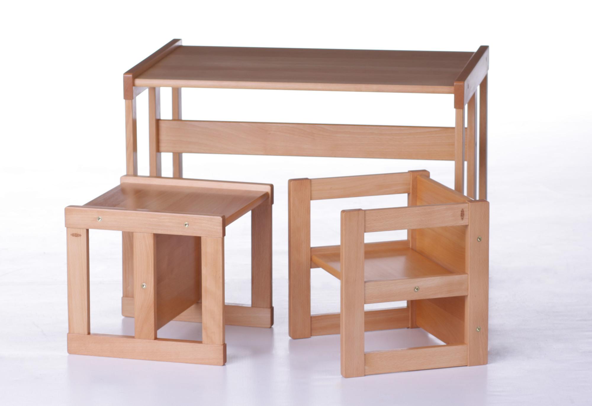 69b7a9214cba5 ... Drevený detský stôl a stolička pre deti od 3 rokov, Montessori nábytok  Detský drevený stôl Drevený detský stolík so stoličkou ...
